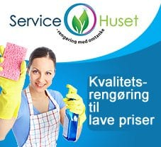 rengøringshjælp Servicehuset